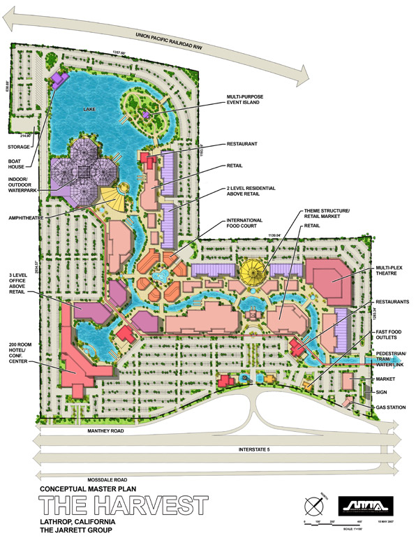 Conceptual Master Plan Indicating Features