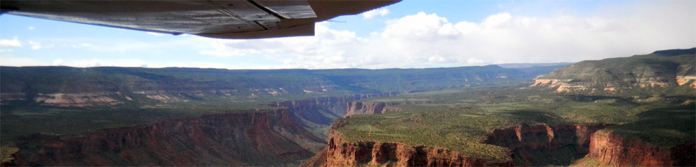 View of Grand Canyon from Airship